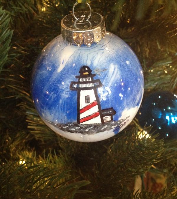 Lighthouse Christmas ornament
