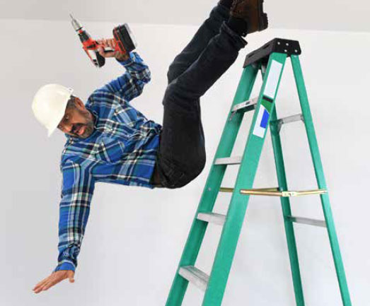 Man Falling Off Ladder